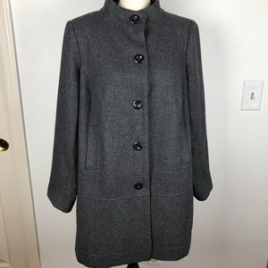 OLD NAVY SIMPLE BUTTON UP GRAY DRESS COAT